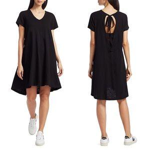 Wilt | Tie-Back T-Shirt Dress Navy Cotton Medium